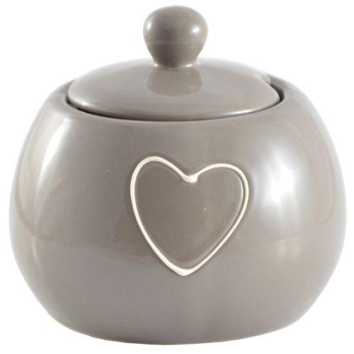 cukřenka LOVELY (srdce) béž.keramika