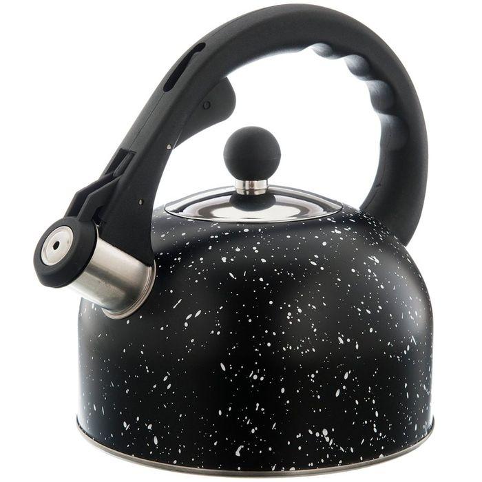 čajník 2,0l MARBLE černý s víčkem NR, indukce