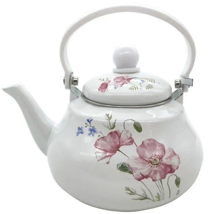 čajník 1,5l EVIKA-KVĚT+víčko, indukce, 2.jakost, smalt