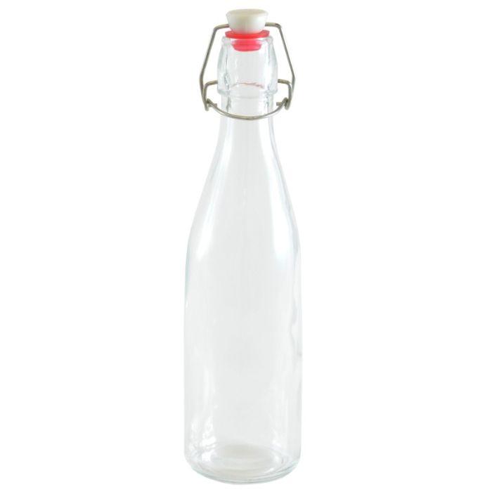 láhev 1,0l KULATÁ.,patent.uzávěr,sklo