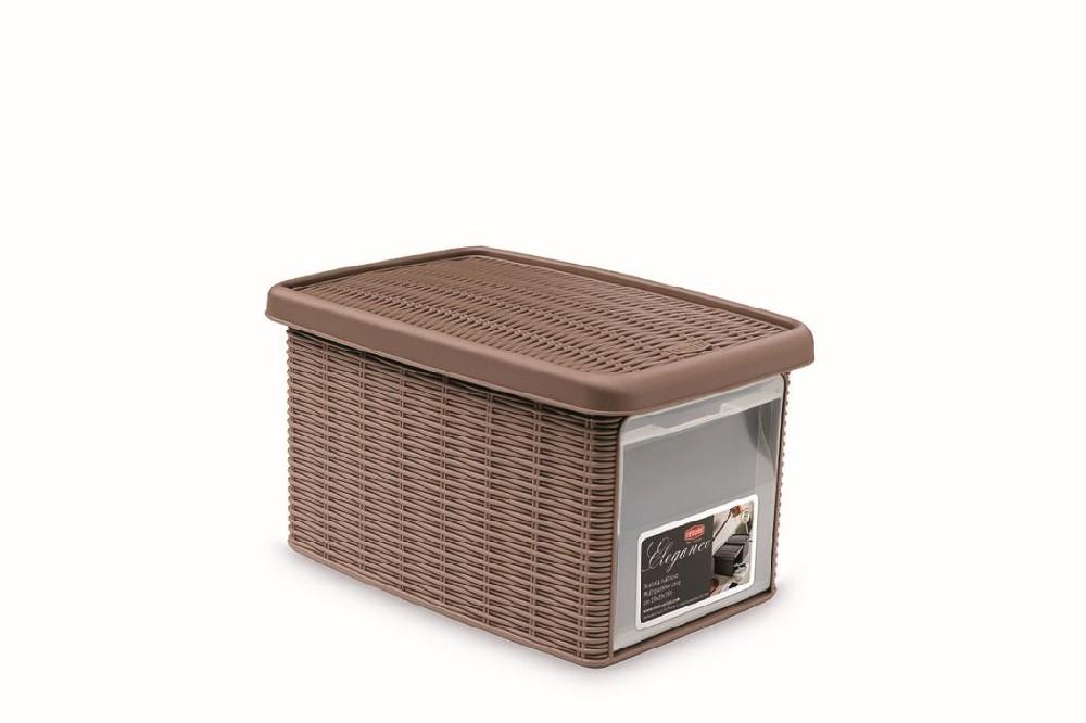 box  5,5l+víko z boku 29x19x16cm sv.hnědý ELEGANCE-S