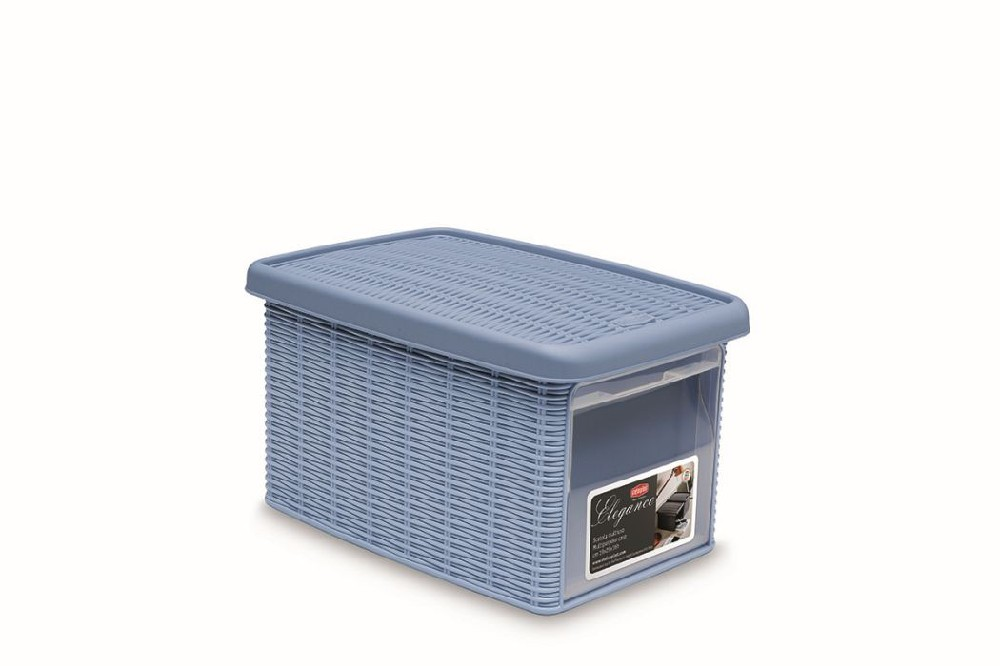 box  5,5l+víko z boku 29x19x16cm sv.modrý ELEGANCE-S