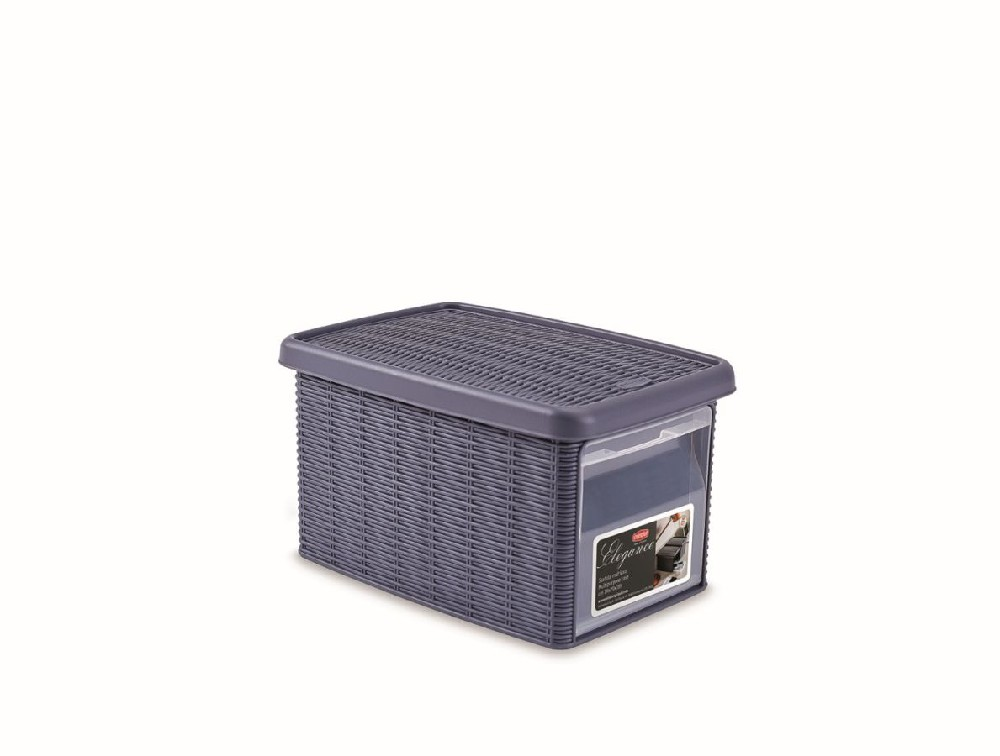 box  5,5l+víko z boku 29x19x16cm tm.modrý ELEGANCE-S