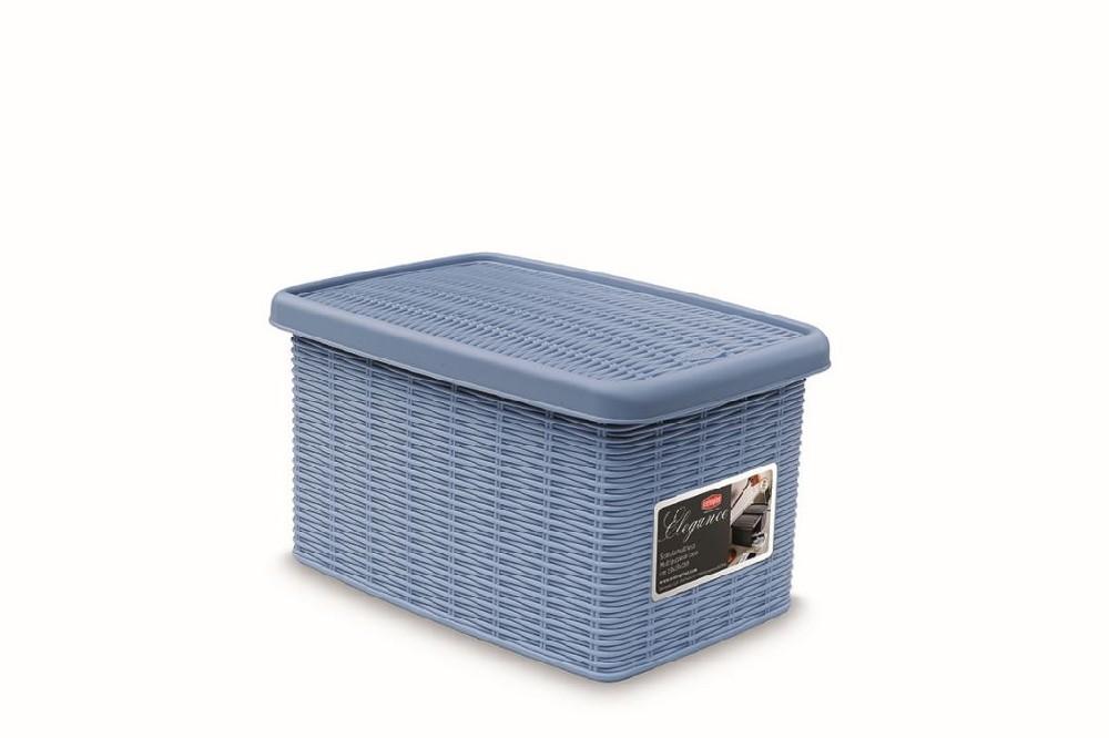 box  5,5l+víko 29x19x16cm sv.modrý ELEGANCE-S