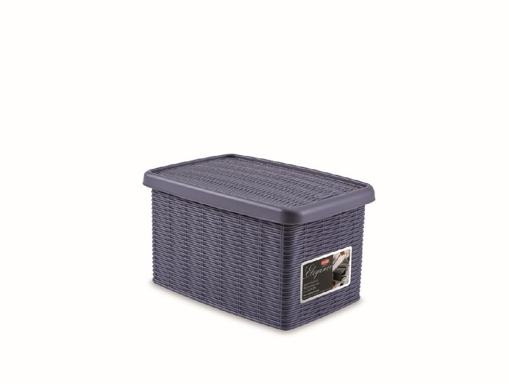 box  5,5l+víko 29x19x16cm tm.modrý ELEGANCE-S
