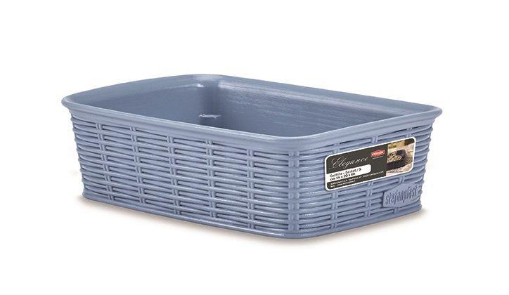 košík 20x14x6cm, sv.modrý ELEGANCE-S, im.ratan