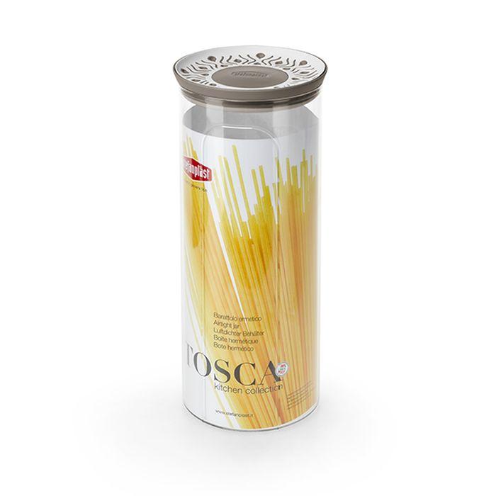 dóza 2,2l, d12x28cm, TOSCA, špagety, bílo-béž., plast