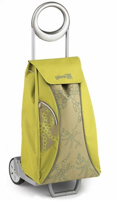 taška 48,0l s kolečky, MARKET QUEEN zelená (30kg), kov.rám