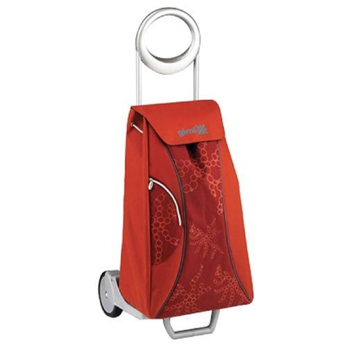 taška 48,0l s kolečky, MARKET QUEEN červená (30kg), kov.rám
