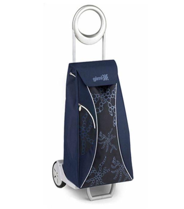 taška 48,0l s kolečky, MARKET QUEEN modrá (30kg), kov.rám