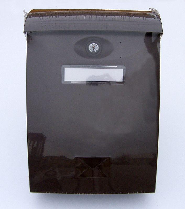 schránka ABS poštovní hnědá 240x345x102