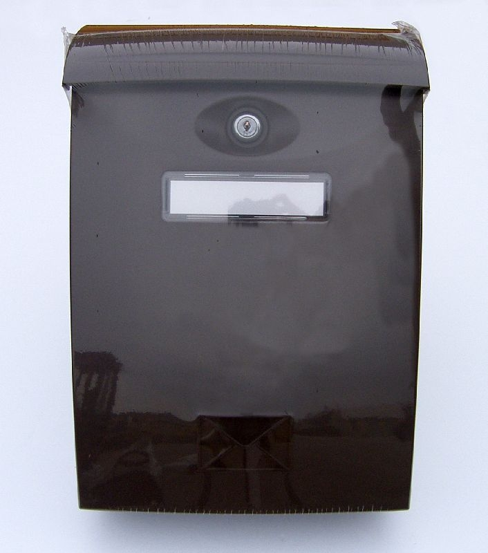 schránka ABS hnědá pošt. 24x34,x10,2cm, plast