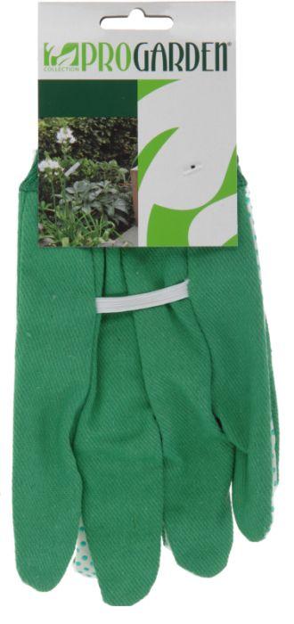 rukavice 1 pár, PES+PVC zelené, zahradní