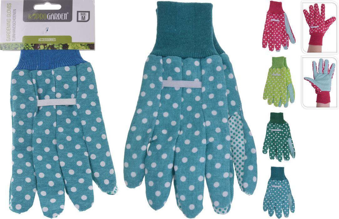 rukavice 1 pár, PES+PVC 4dekory, zahradní
