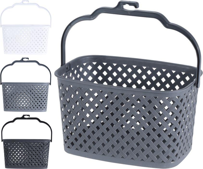 košík na kolíčky 21x14x13cm,šedý,bílý,černý   PO 31.10.