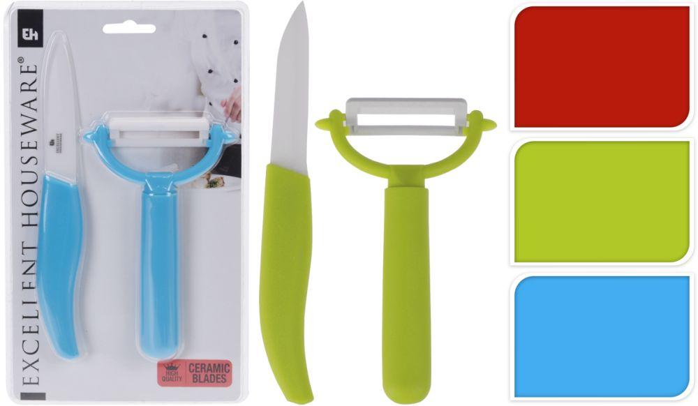 škrabka na bram.+nůž (keramika)-barevné