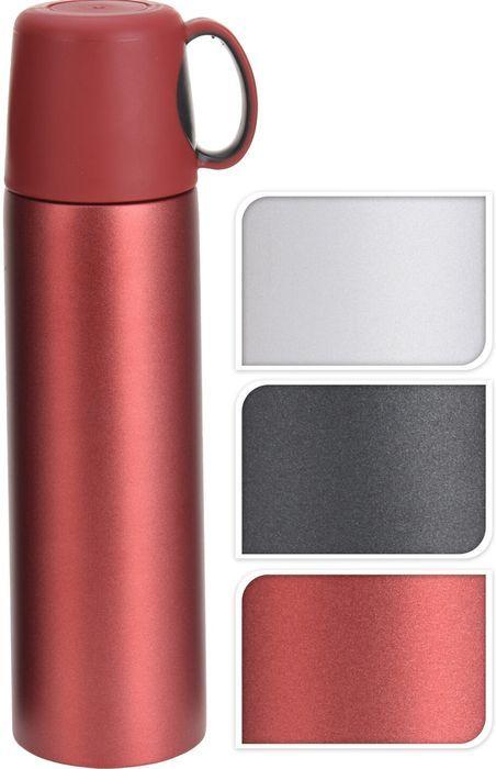 termoska 0,5l barevná,víčko=šálek, 3barvy