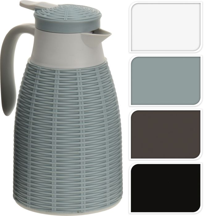 termokonvice 1,0l 4 barvy, s klapkou,im.ratan