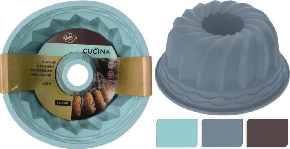 bábovka d24cm,3barvy-A17, silikon