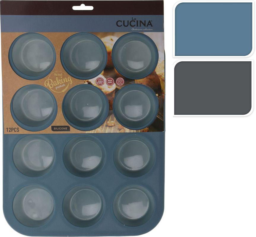 forma MUFFINY 12ks, 33x25x3cm,3barvy-A17, silikon