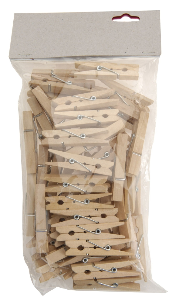 kolíčky 50ks MINI  4,5cm dřevěné