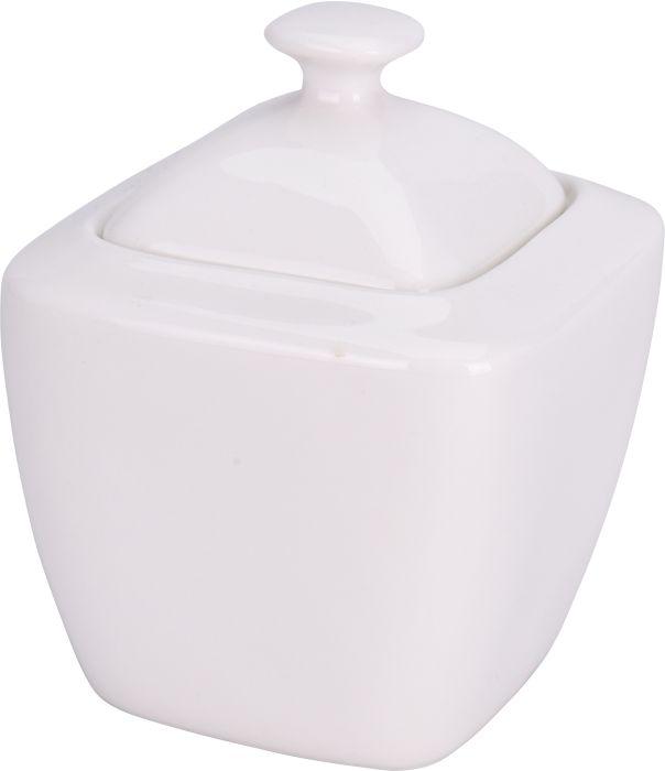 cukřenka 10x10cm, v.11,5 cm, porcelán bílý