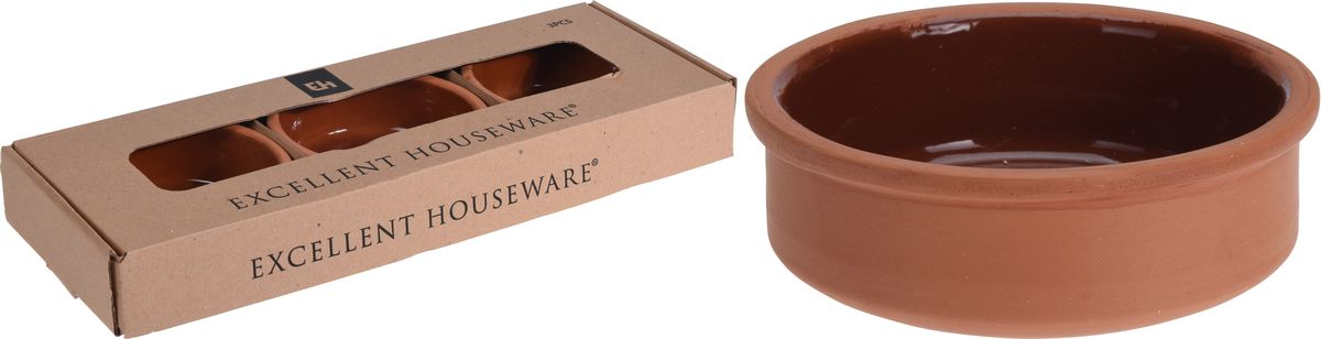 miska zapékací d12x4cm,3ks, keramika