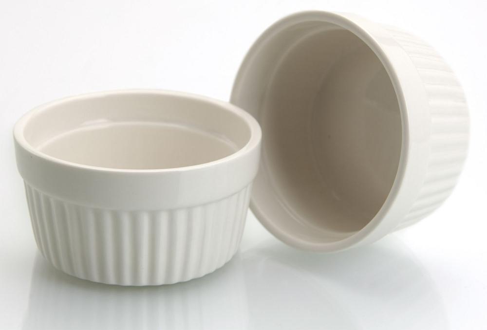 miska 185ml, 2ks, bílé zapék.MUFFINY d9x5cm, porcelán