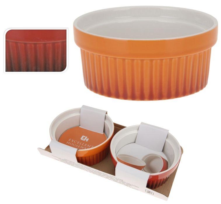 miska 2ks d11x5cm(260ml)barev.zapék., porcelán