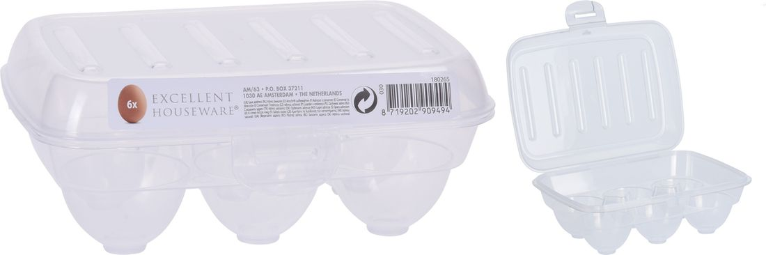 box 6ks vajec 13x19,5x7,5cm, transp.plast
