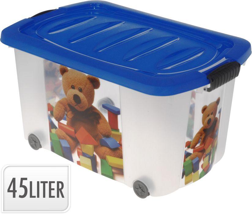 box 45,0, kolečka, dětský potisk 60x38x30cm