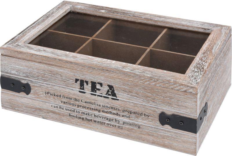 box na sáčkový čaj 24x16x9cm TEA, dřevo