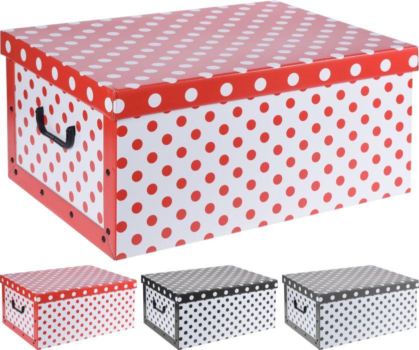 box 45,0l, 49,5x39x24cm, 3druhy, dek.PUNTÍK, papír