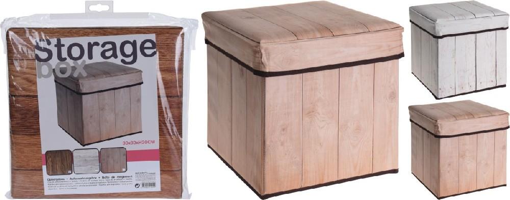 box 27,0l, 30x30x30cm 3druhy, plast.kůže