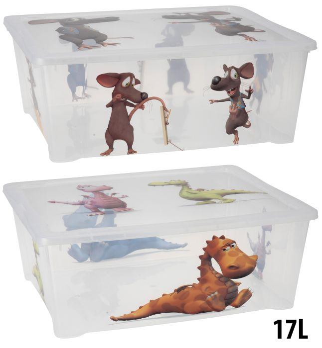 box 17,0l, 42x35x15cm,potisk dětský, plast