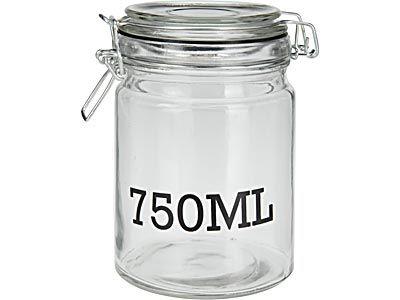 dóza 0,75l d10x15cm,  750 ML, patentní, sklo