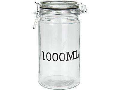dóza 1,00l d10x20cm, 1000ML, patentní, sklo