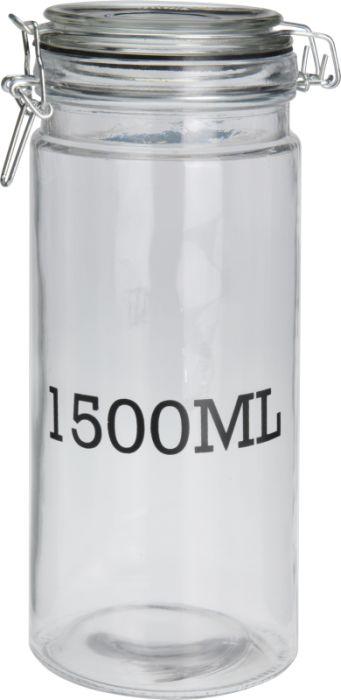 dóza 1,5l d10x 26cm, 1500ML, patentní, sklo