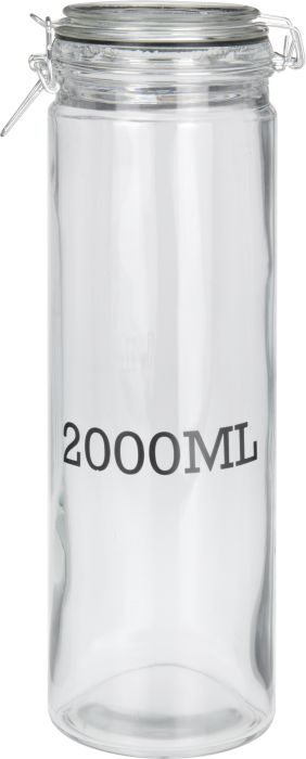 dóza 2,00l d10x32cm, 2000ML, patentní, sklo