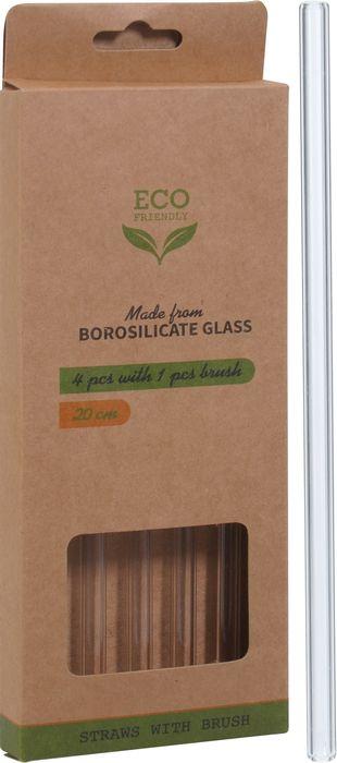 brčko 20cm, 4ks+čistič, rovné, sklo
