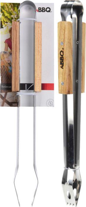 kleště 41cm Nr/dřevo BBQ grilovací