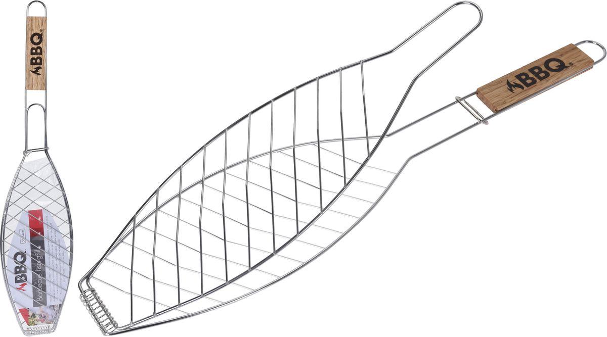 rošt 58x14cm na ryby, tvar RYBA, dř.ruk., grilovací