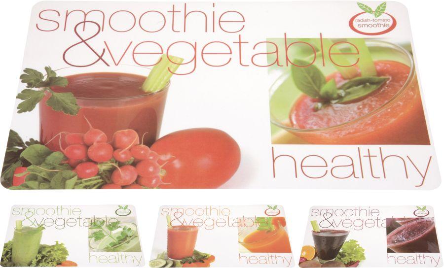 prostírání 43,5x28,5cm, dek. Ovoce+zelenina, plast