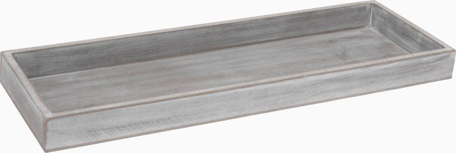 podnos 40x14cm, dekorační, šedé dřevo