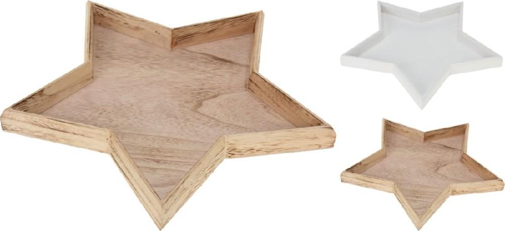 podnos 35cm HVĚZDA dekorační,, dřevo