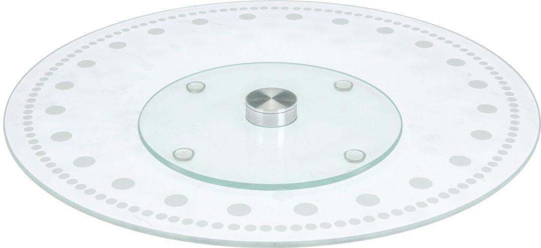 podnos d30cm, otočný, sklo