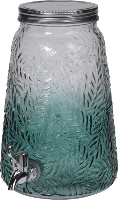 láhev 4,0l sklo s kohoutem, mačkané-zelené