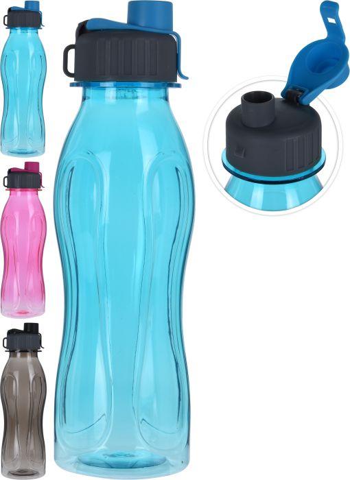 láhev 0,60l s nápitkou, 3barvy, plast