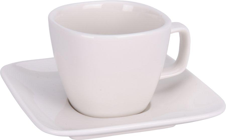 šapo 100ml, 6ks, MOCCA, porcelán bílý