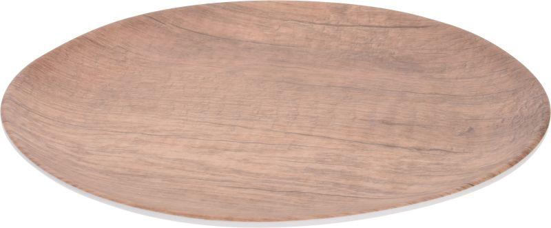 talíř d23cm dezert., im.dřeva, melamin